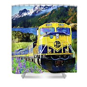 Alaska Railroad Shower Curtain