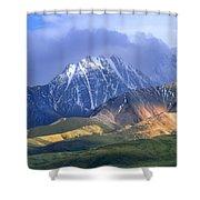 Alaska Range And Foothills Denali Shower Curtain