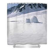 Alaska Range And Glacier With Igloo Shower Curtain