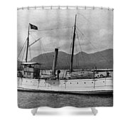 Alaska Steamboat Shower Curtain
