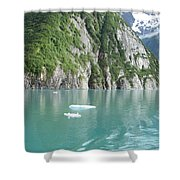 Alaska Teal Tranquility Shower Curtain