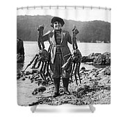 Alaskan Crabs Shower Curtain