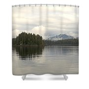 Alaskan Island Reflection Shower Curtain