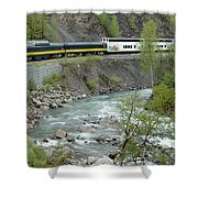 Alaskan Railroad Shower Curtain