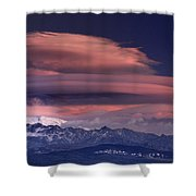 Alayos Mountains At Sunset In Sierra Nevada Shower Curtain