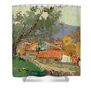 Albanian Countryside Shower Curtain