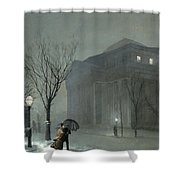 Albany In The Snow Shower Curtain