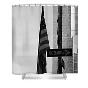 Albany Street In Black And White Shower Curtain