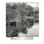 Albergottie Creek Trestle Shower Curtain