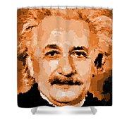 Albert Einstein 01 Shower Curtain