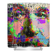 Albert Einstein - Atomic Particles  Shower Curtain