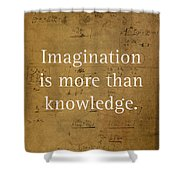 Albert Einstein Quote Imagination Science Math Inspirational Words On Worn Canvas With Formula Shower Curtain