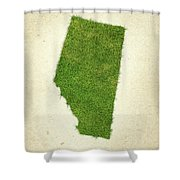Alberta Grass Map Shower Curtain by Aged Pixel