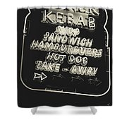 Albufeira Street Series - Doner Kebab II Shower Curtain