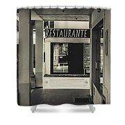 Albufeira Street Series - Restaurante Shower Curtain