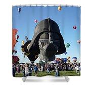 Albuquerque International Balloon Fiesta With Darth Shower Curtain
