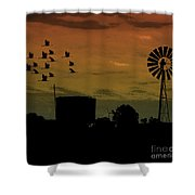 Albury At Night Shower Curtain