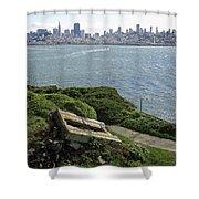 Alcatraz And San Francisco Shower Curtain