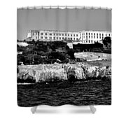 Alcatraz Federal Prison Shower Curtain by Benjamin Yeager