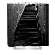 Alcatraz Hospital Stairs Shower Curtain