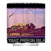 Alcatraz Prison Poster Shower Curtain