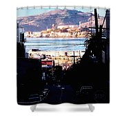 Alcatraz - So Close Yet So Far Shower Curtain
