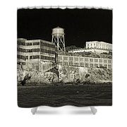 Alcatraz The Rock Sepia 1 Shower Curtain