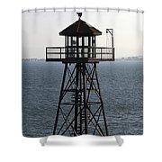 Alcatraz Watch Tower Shower Curtain