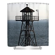 Alcatraz Watchtower Shower Curtain
