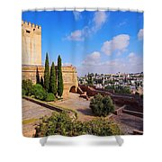 Alcazaba In Granada Shower Curtain