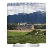 Alcazar Against The Mountains Shower Curtain