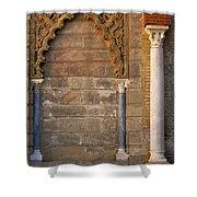 Alcazar Columns In Spain Shower Curtain