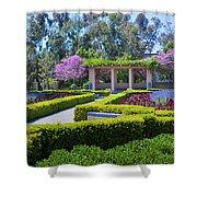 Alcazar Garden Vibrant Color Display Balboa Park Shower Curtain