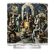 Alchemy: Laboratory Shower Curtain