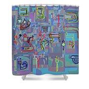 Alef Bais 1e Shower Curtain