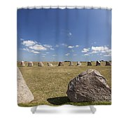 Ales Standing Stones Shower Curtain
