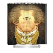 Alexander Hamilton Invert Shower Curtain