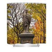 Alexander Hamilton Statue Shower Curtain by Joann Vitali