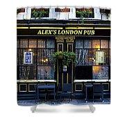 Alex's London Pub Shower Curtain