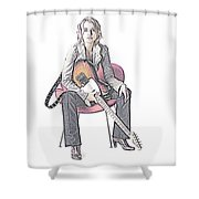 Alexz Johnson Shower Curtain