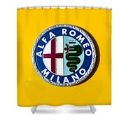 Alfa Romeo Emblem Shower Curtain