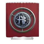 1961 Alfa Romeo Giulietta Sprint Veloce Series II Emblem -1045c Shower Curtain