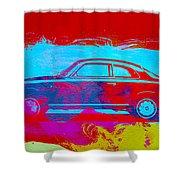 Alfa Romeo  Watercolor 1 Shower Curtain by Naxart Studio