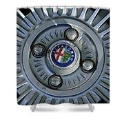 Alfa Romeo Wheel Rim Shower Curtain
