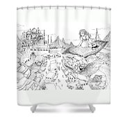 Ali Baba Cover Sketch Shower Curtain