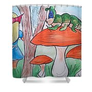 Alice Asking For Directions Shower Curtain