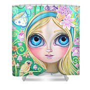Alice In Pastel Land Shower Curtain