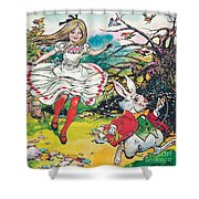 Alice In Wonderland Shower Curtain by Jesus Blasco