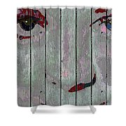 Alice On The Fence Shower Curtain