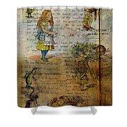 Alice's Adventures Shower Curtain